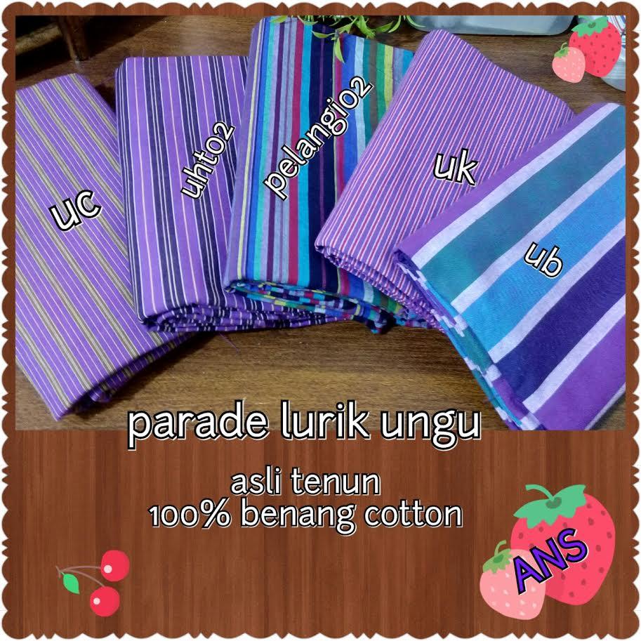 parade lurik ungu
