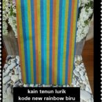 Lurik new rainbow biru
